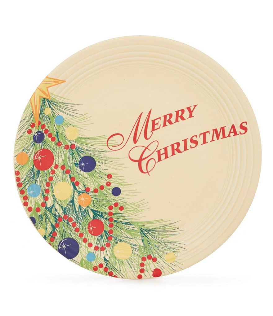 Fiesta Christmas Tree Merry Christmas Dinner Plate