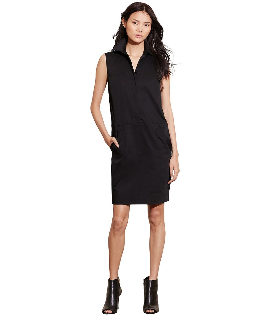 Lauren Ralph Lauren Stretch Cotton Shift Dress