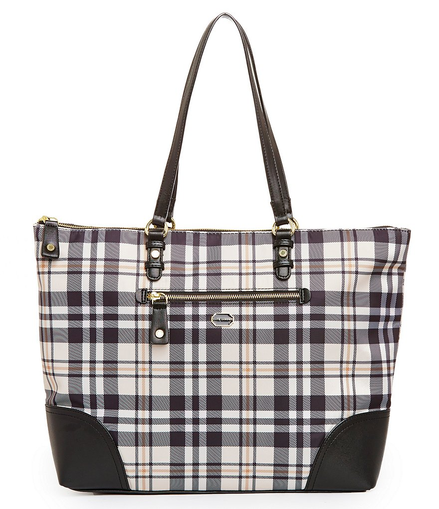 Kate Landry Plaid Tote