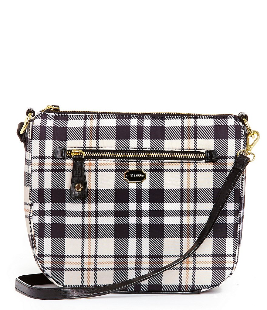 Kate Landry Plaid Cross-Body Bag