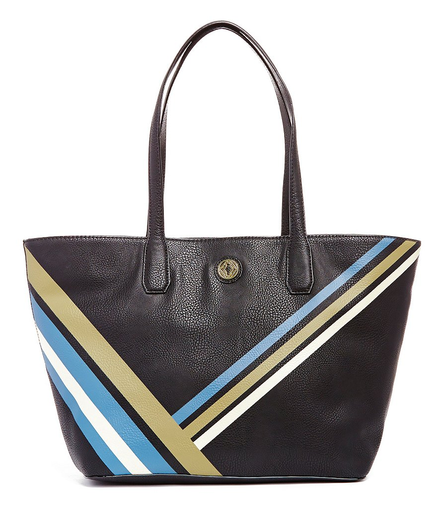Kate Landry Painted-Stripe Tote