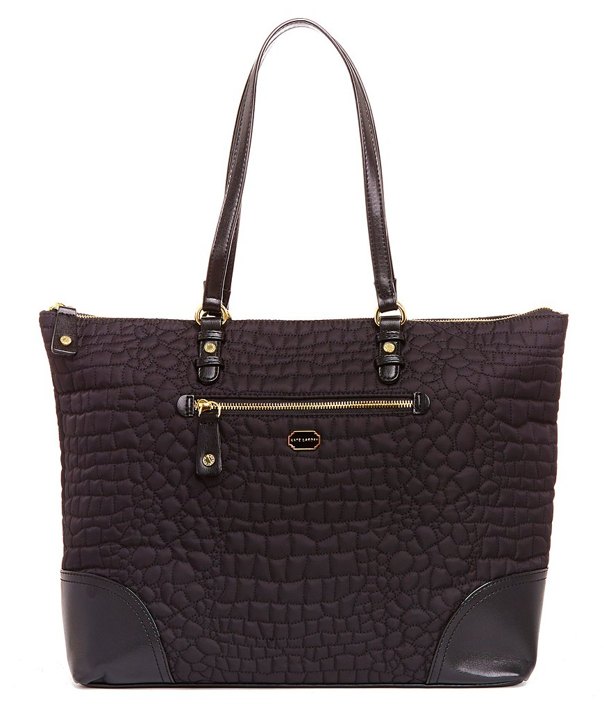 Kate Landry Crocodile-Quilted Tote