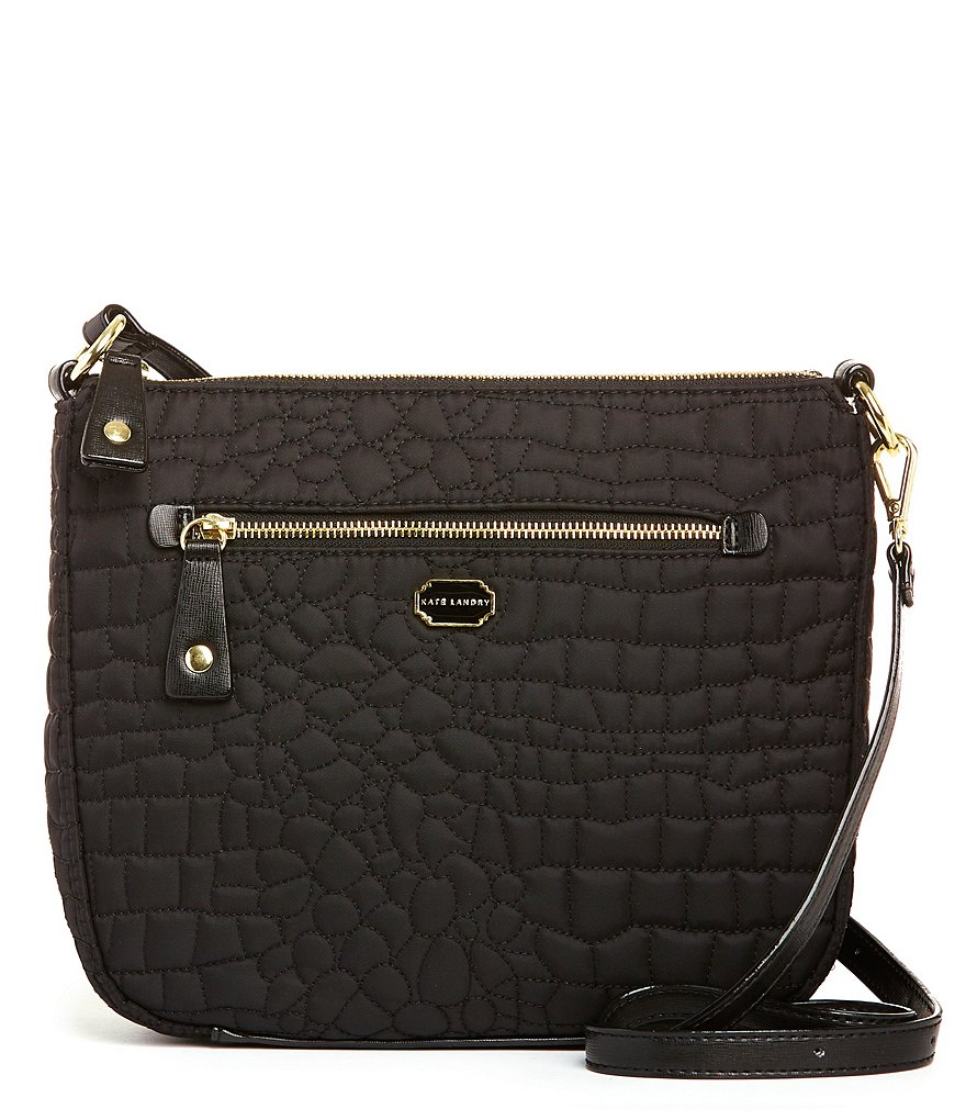 Kate Landry Crocodile-Quilted Backpack