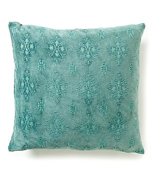Southern Living Vintage Medallion Jacquard Chenille Square Pillow