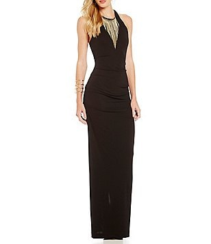 Nicole Miller Collection Adel Stretchy Matte Jersey Gown