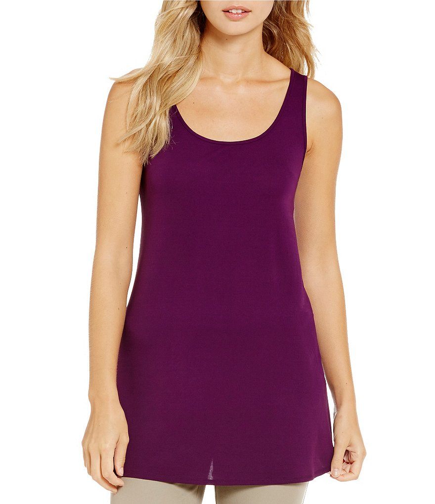 Eileen Fisher Petites Silk Jersey Solid Tank