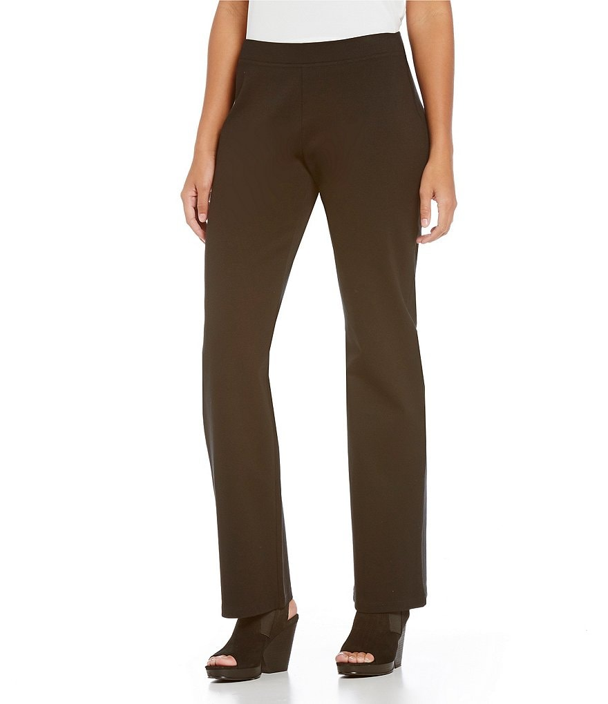 Eileen Fisher Petites Straight Leg Flat Front Pants