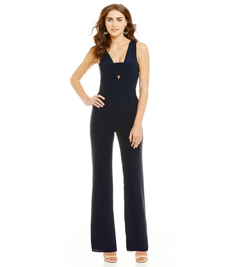 Sugarlips Plunging Front Jumpsuit
