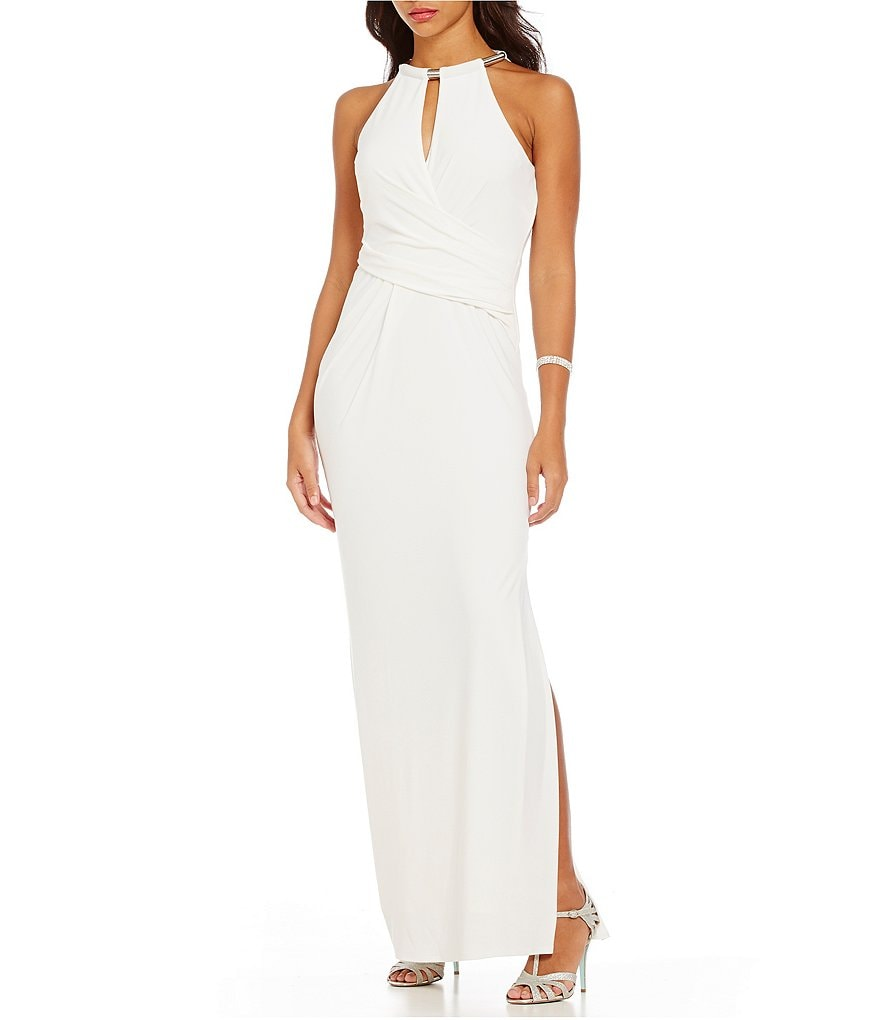 Laundry By Shelli Segal Necklace Detail Gown