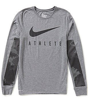 Nike Dri-FIT Camo Burnout Long-Sleeve Training Tee