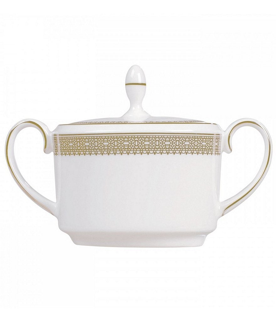 Vera Wang by Wedgwood Lace Gold Bone China Sugar Bowl with Lid