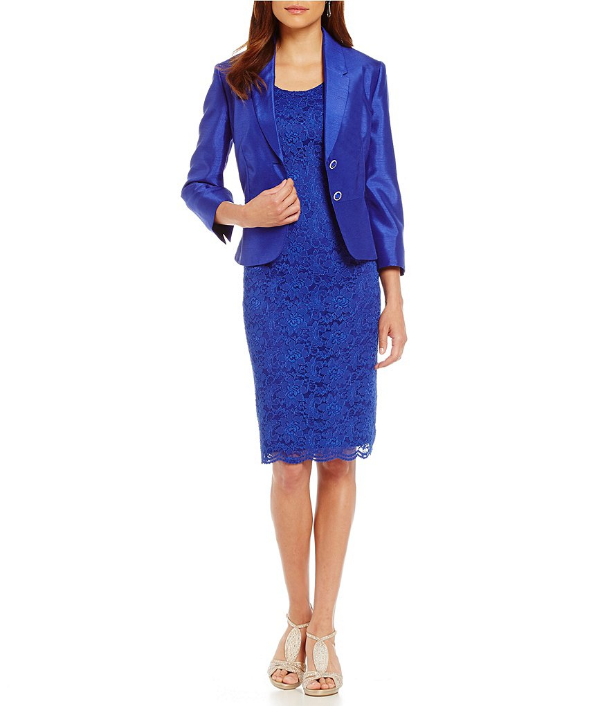 John Meyer 2-Piece Stretch Lace Jacket Dress