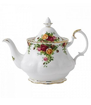 Royal Albert Old Country Roses Floral Bone China Teapot