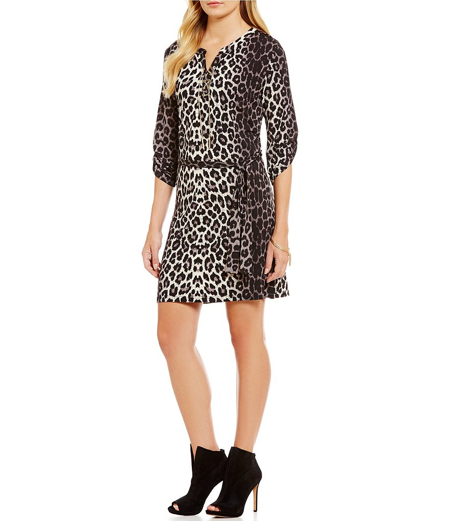 Calessa Animal Print Dress
