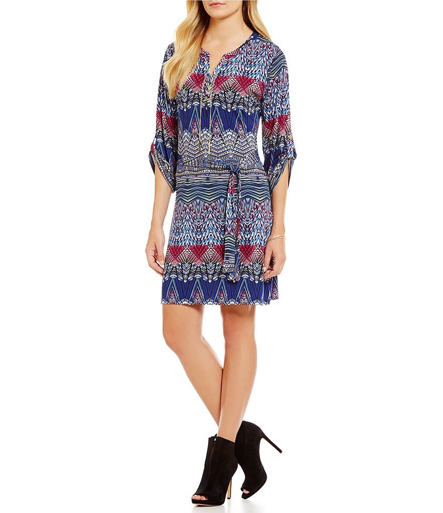 Calessa Abstract Print Dress