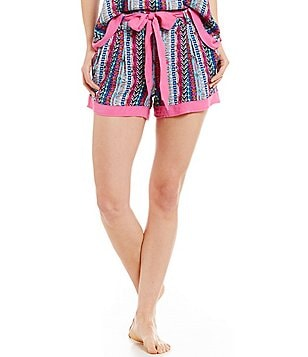 BollyDoll Tribal-Striped Lounge Shorts