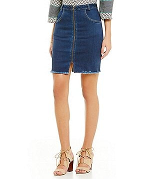 Sugarlips Fray Denim Mini Skirt