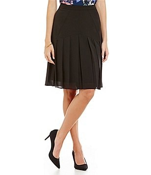 Kasper Pleated Mid-Length Skirt