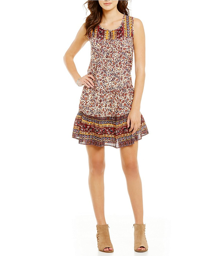 Lucky Brand Sleeveless Printed Dress