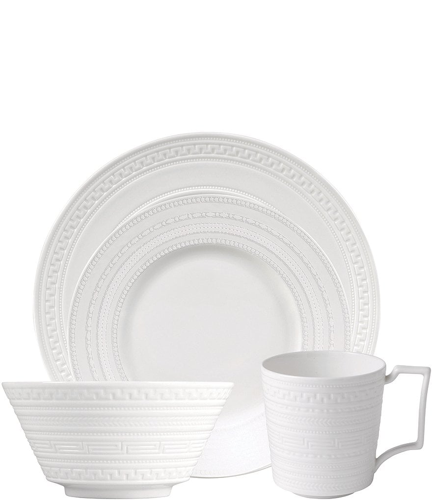 Wedgwood Intaglio Neoclassical Embossed Bone China 4-Piece Place Setting