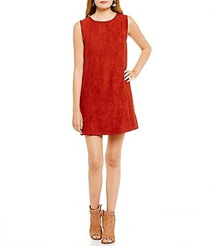 Sugarlips Faux Suede Sleeveless Dress
