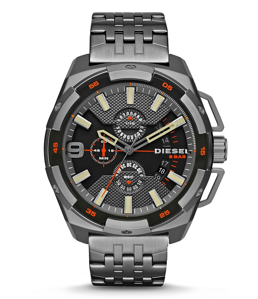 Diesel Heavyweight Chronograph & Date Bracelet Watch