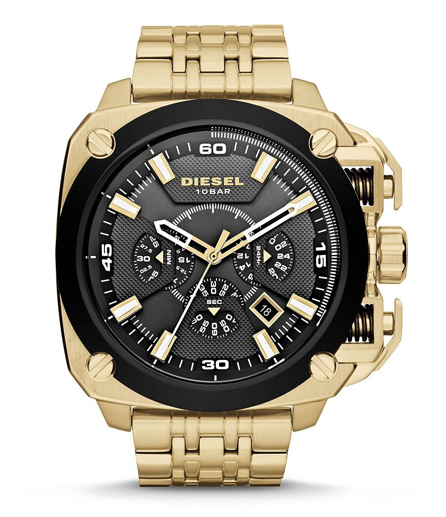 Diesel Chronograph Gold Stainless Steel Bracelet Watch