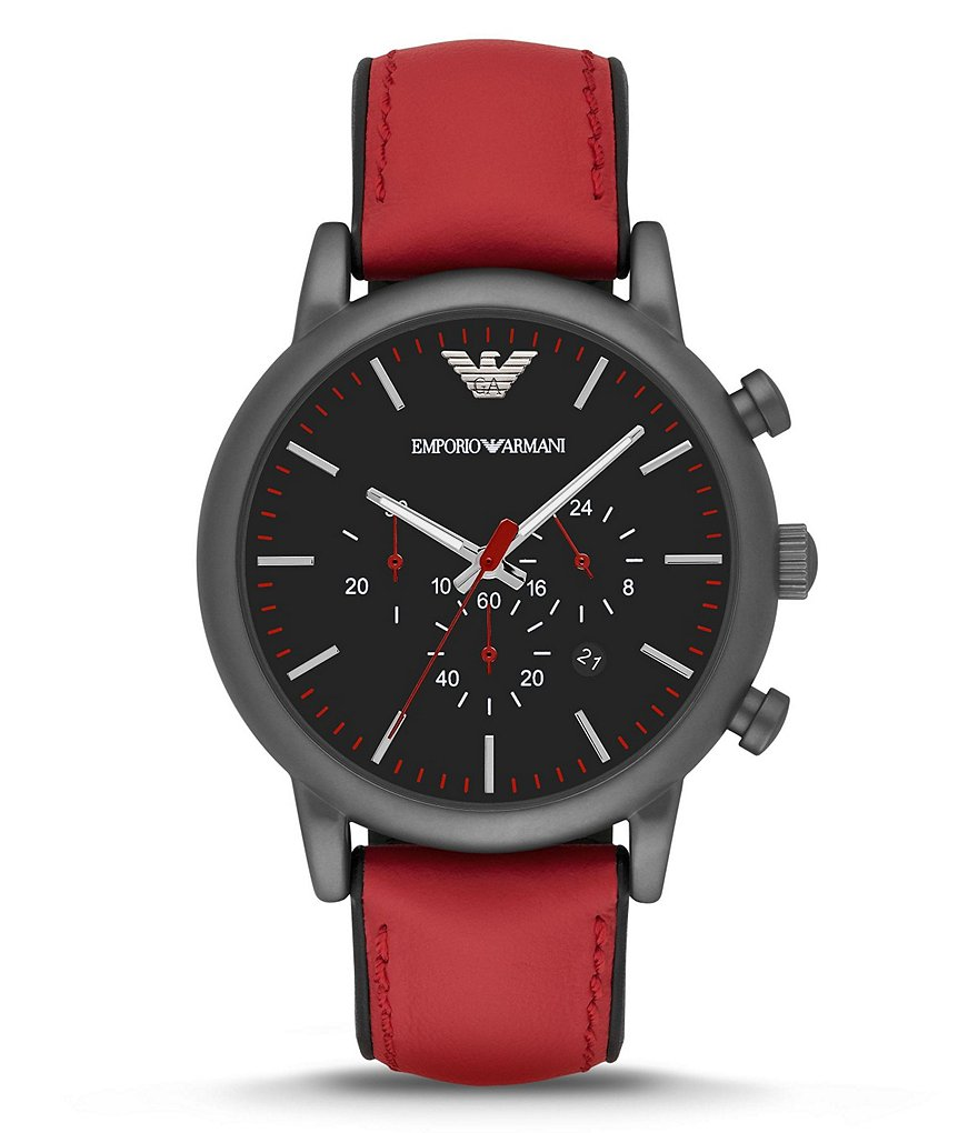 Emporio Armani Luigi Stainless Steel Chronograph Watch