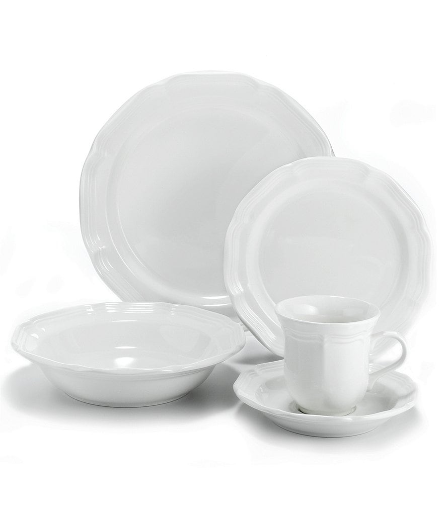 Mikasa French Countryside Rippled Stoneware 5-Piece Place Setting