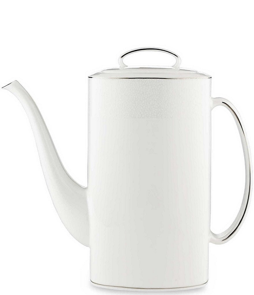 kate spade new york Cypress Point Striped Platinum Coffeepot