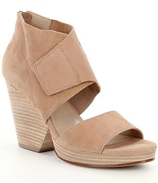 Eileen Fisher Clip Nubuck Zip Sandals