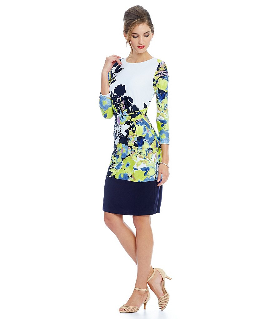 Preston & York Blair Floral Knit Dress