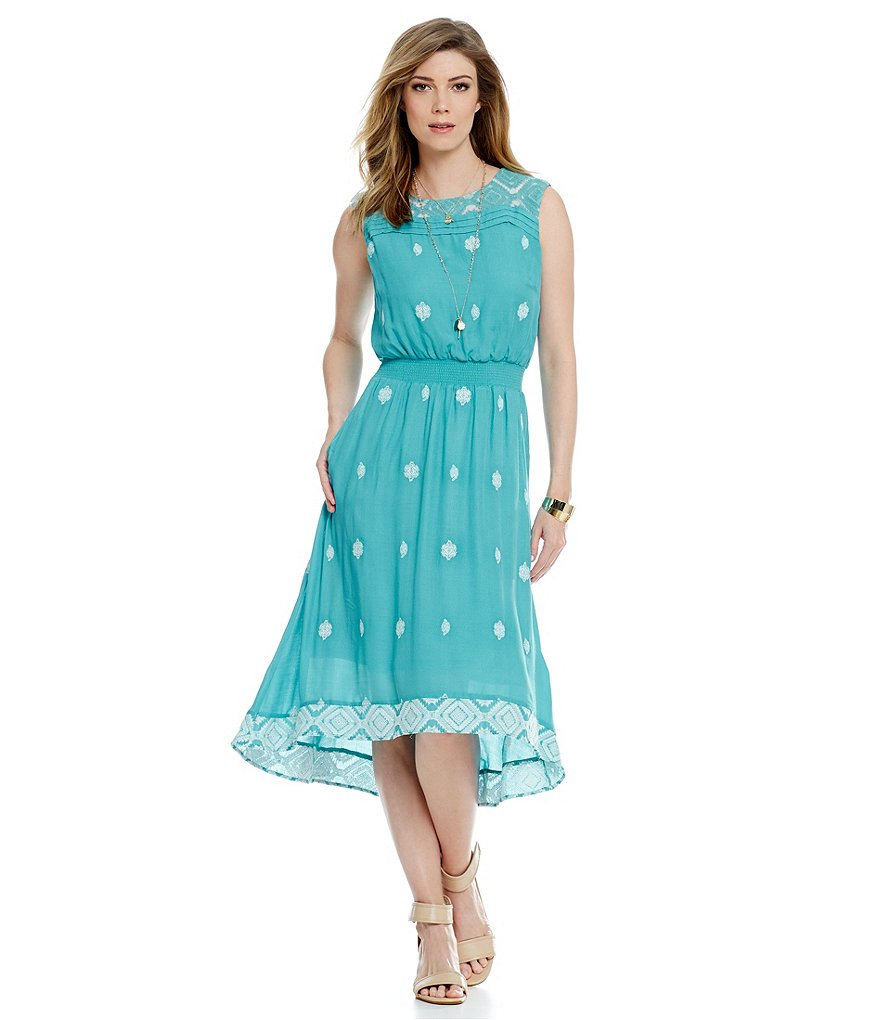 Nurture Embroidered High-Low Dress