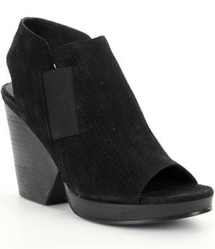 Eileen Fisher Plus Block-Heel Sandals