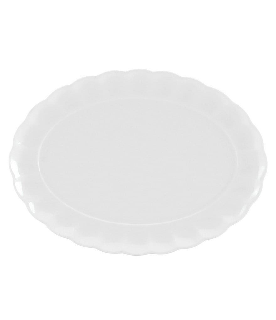 Gorham Manor Scalloped Bone China Oval Platter