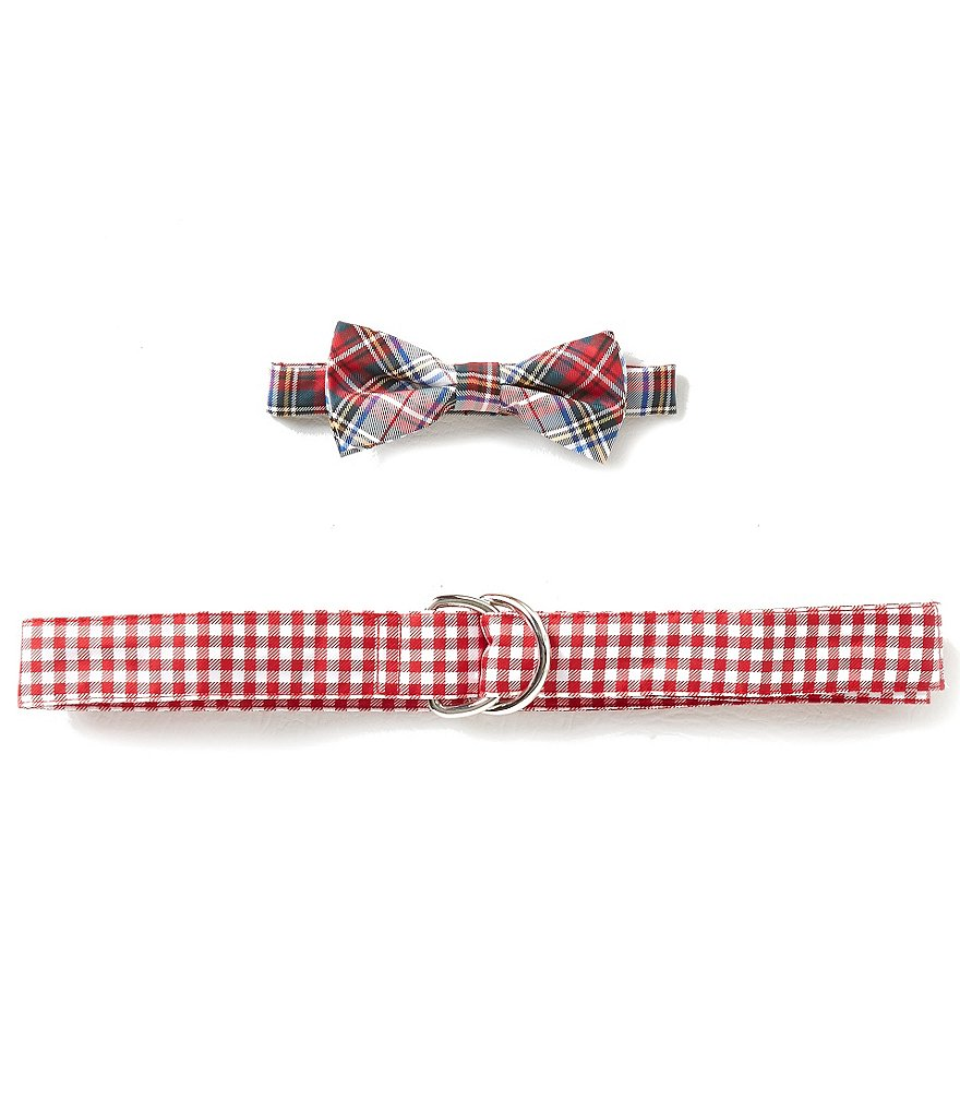Class Club Plaid Bow Tie and Gingham Belt Set