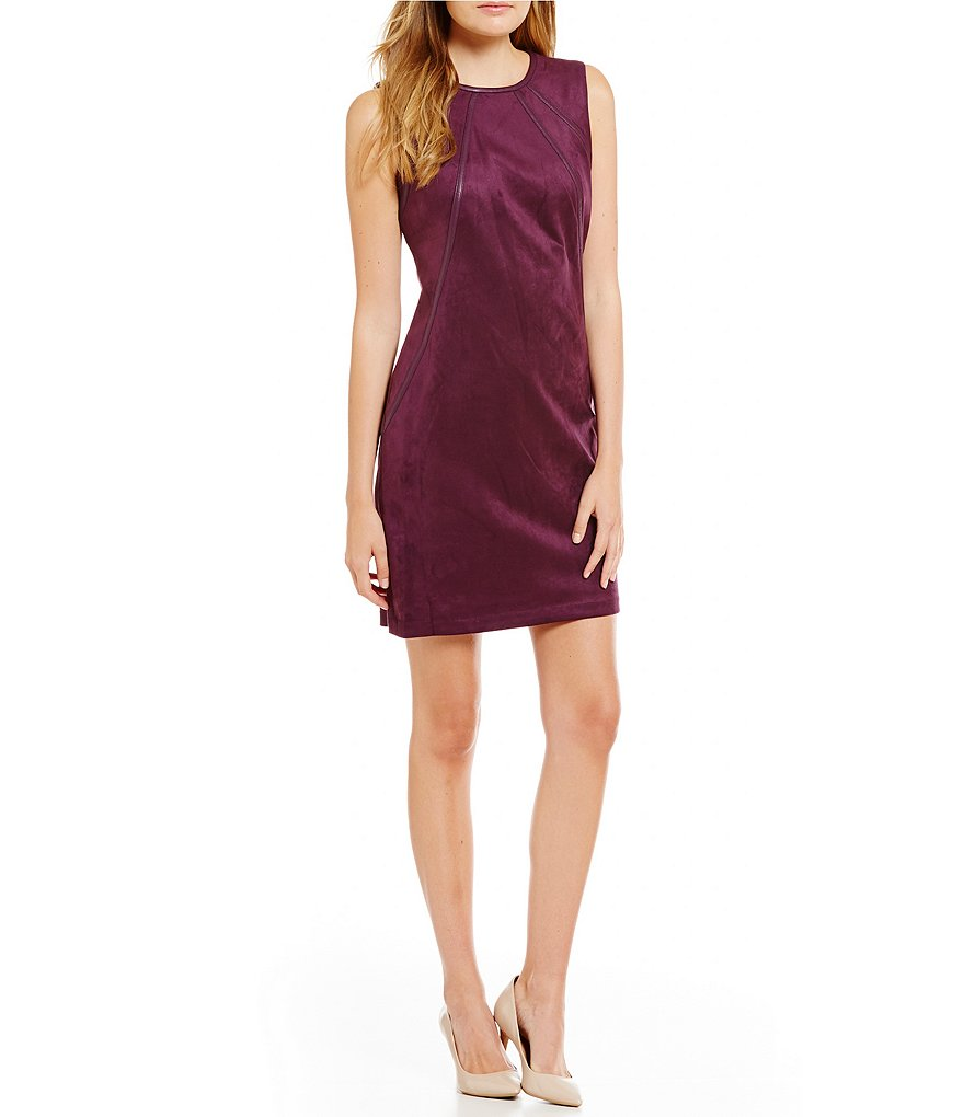 Calvin Klein Suede Trapeze Dress