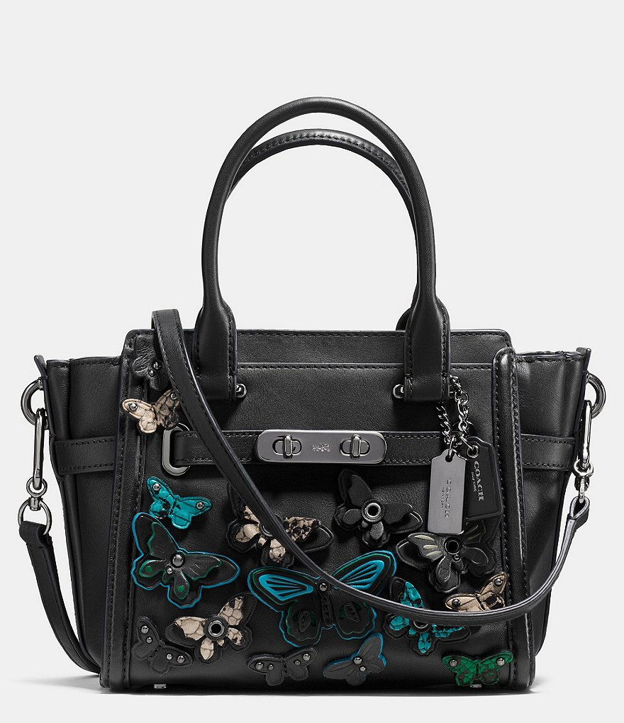 COACH SWAGGER 21 CARRYALL WITH BUTTERFLY APPLIQUE IN GLOVETANNED LEATHER