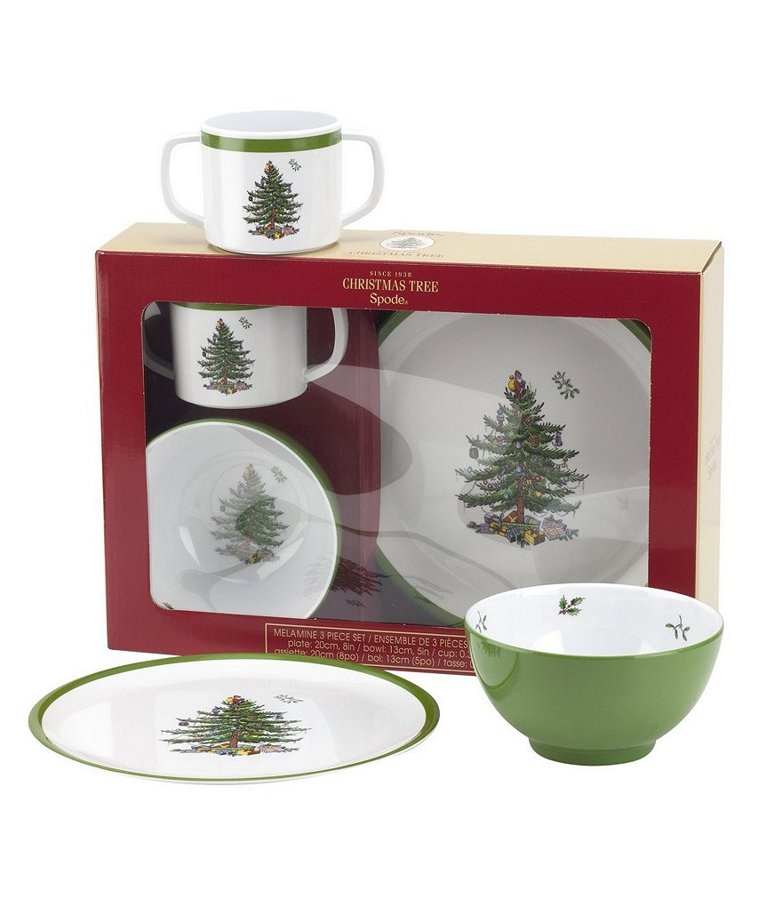 Spode Christmas Tree Children´s 3-Piece Melamine Dinnerware Set