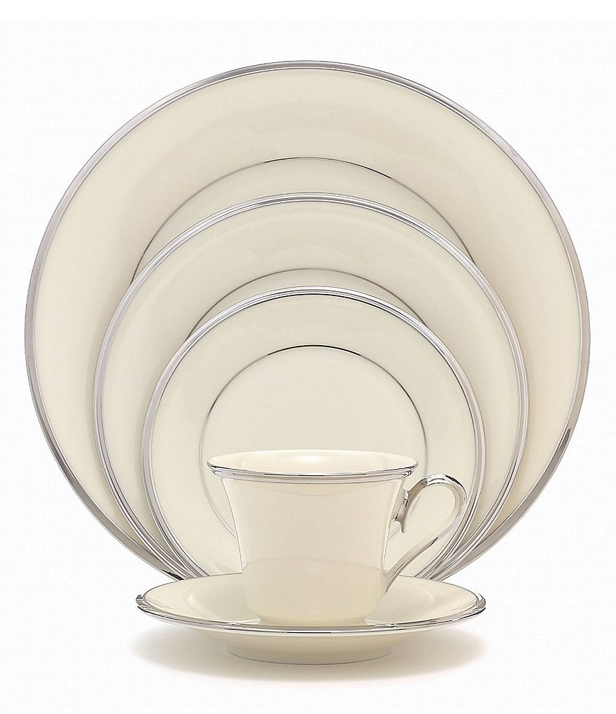 Lenox Solitaire Platinum China 5-Piece Place Setting
