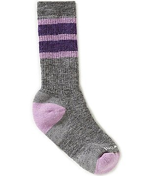 SmartWool Girls Striped Hike Medium Crew Socks