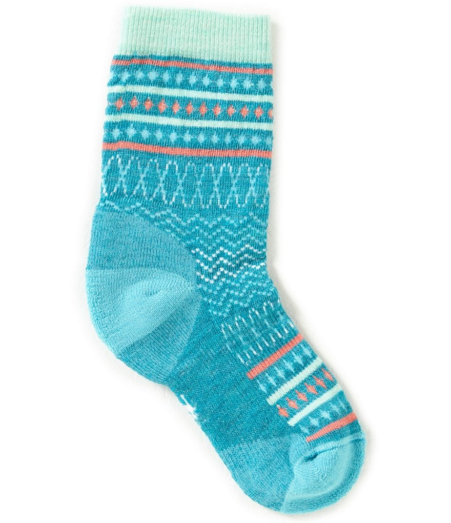SmartWool Girls Diamond Flush Crew Socks