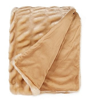 Noble Excellence Shadow Faux-Fur Throw