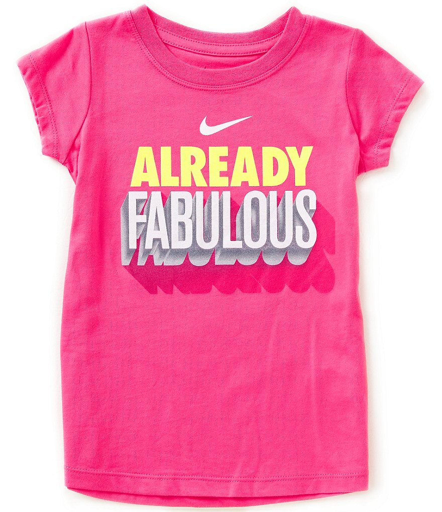 Nike Little Girls 4-6X Already Fabulous Tee