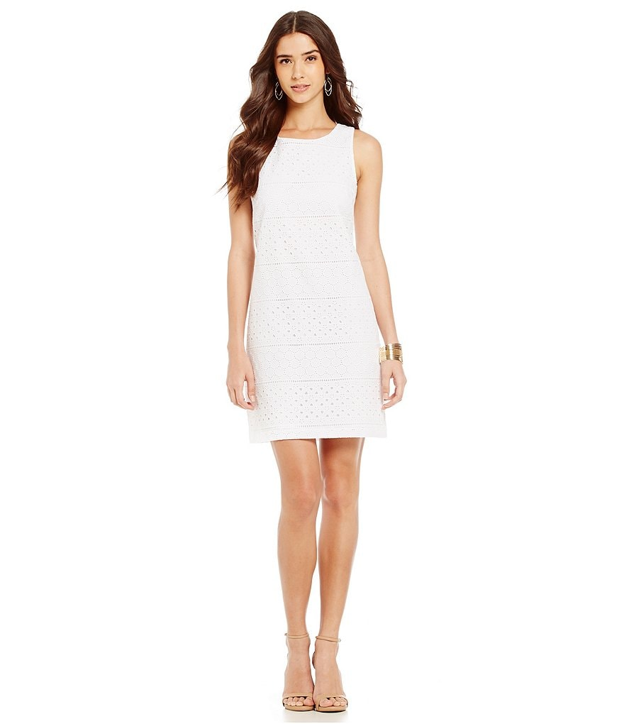 Cremieux Becca Eyelet Sleeveless Lace Dress