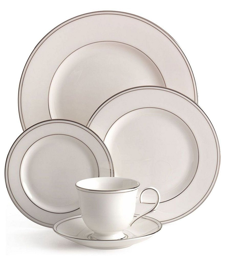 Lenox Federal Neoclassical Platinum Bone China 5-Piece Place Setting