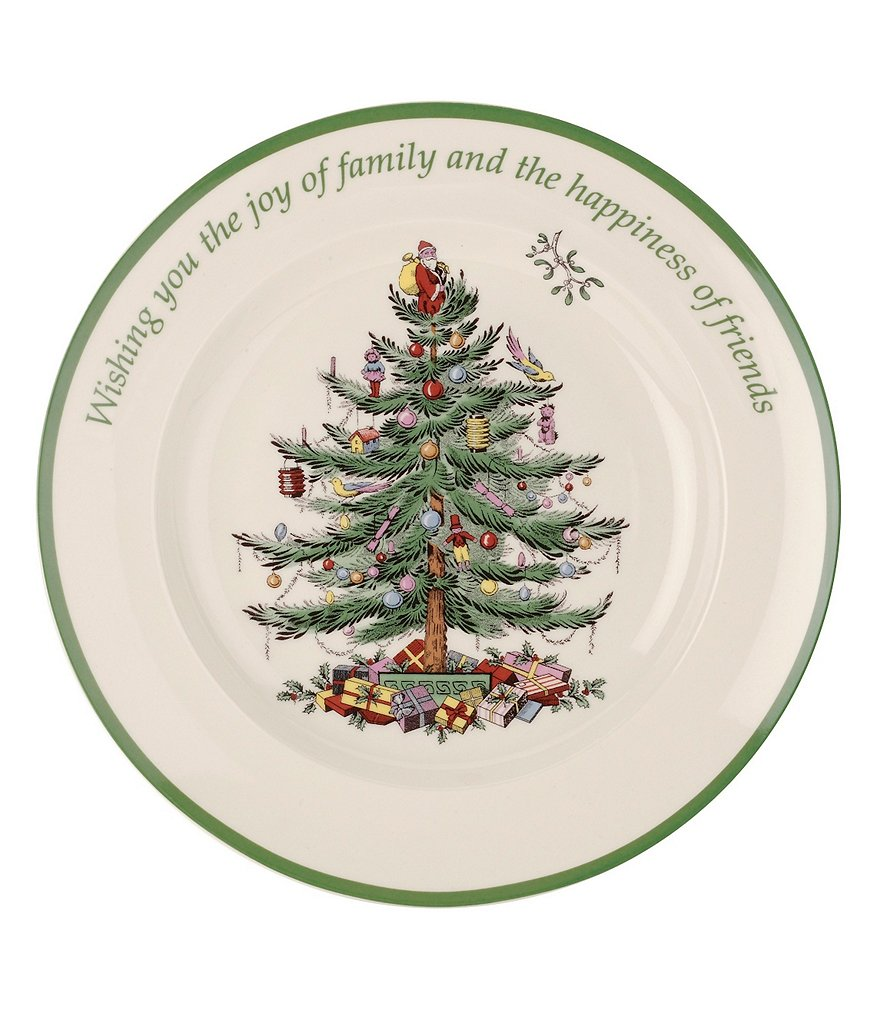 Spode Christmas Tree Round Sentiment Plate