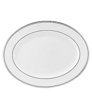 Lenox Federal Neoclassical Platinum Bone China Oval Platter