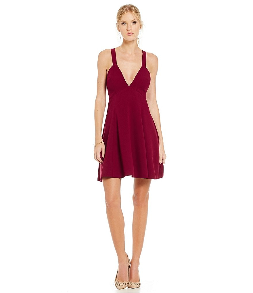 Lucy Paris Cross Back Fit and Flare Dress