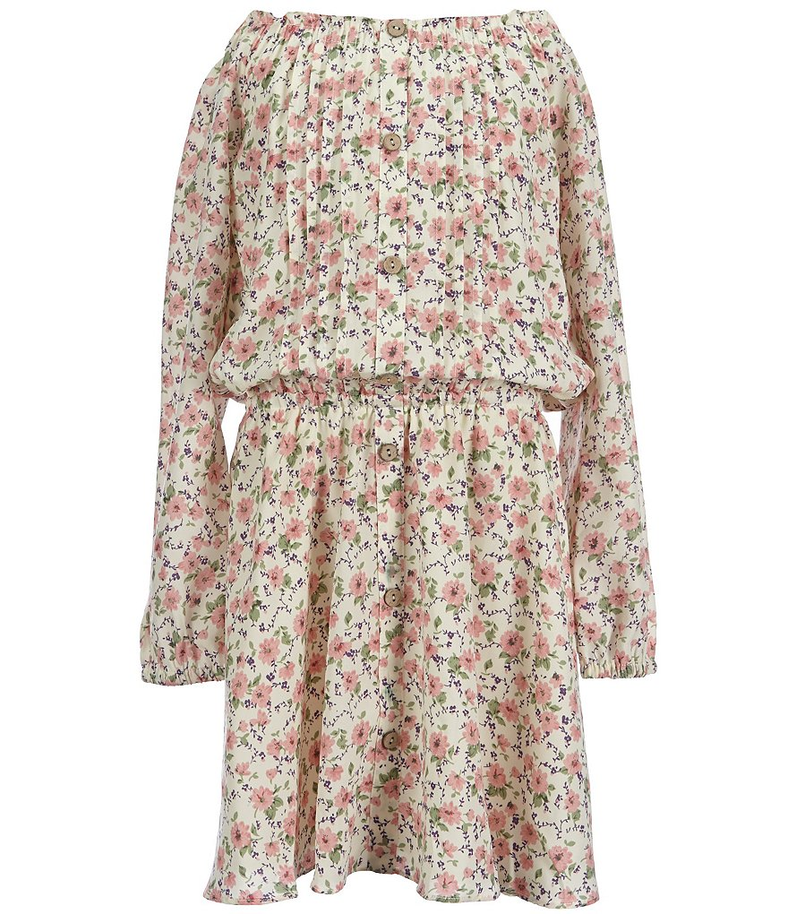 Miss Me Girls Big Girls 7-16 Off-the-Shoulder Floral Dress